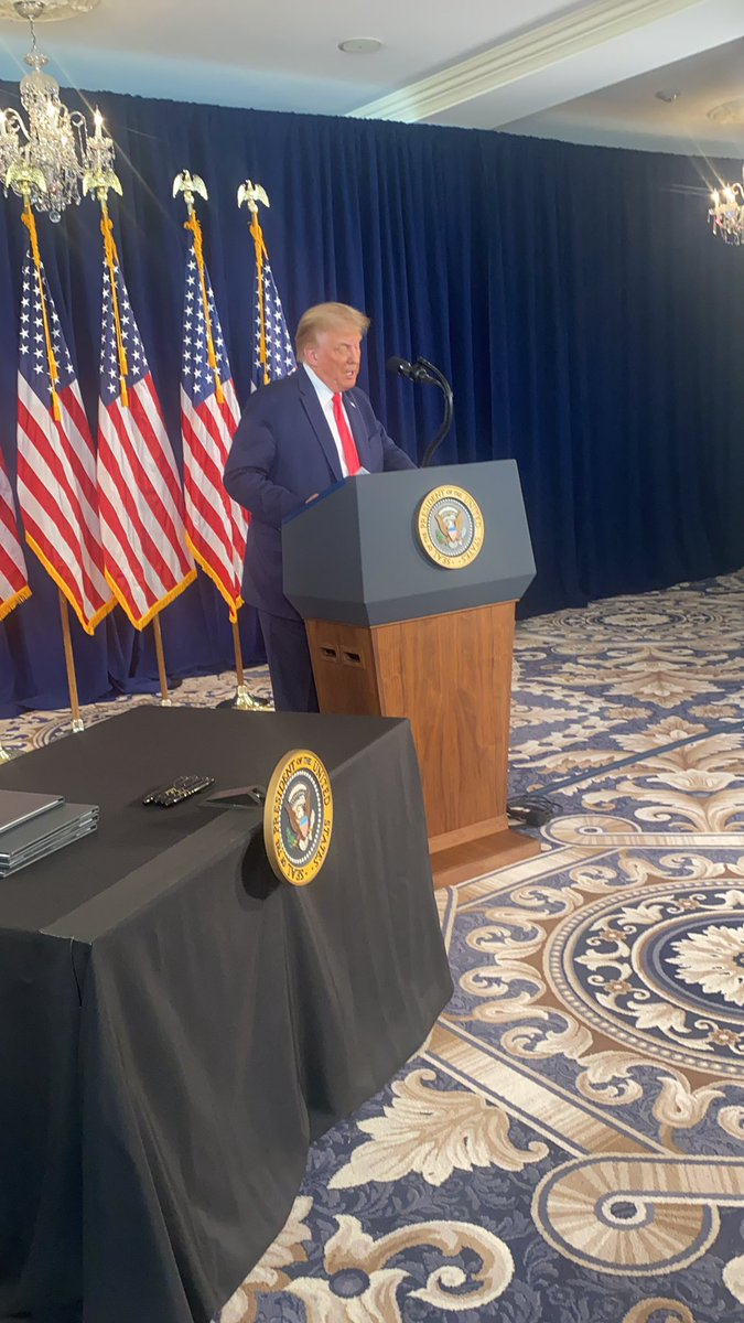 President Trump announces $400 per week in unemployment benefits - slashing it by $200