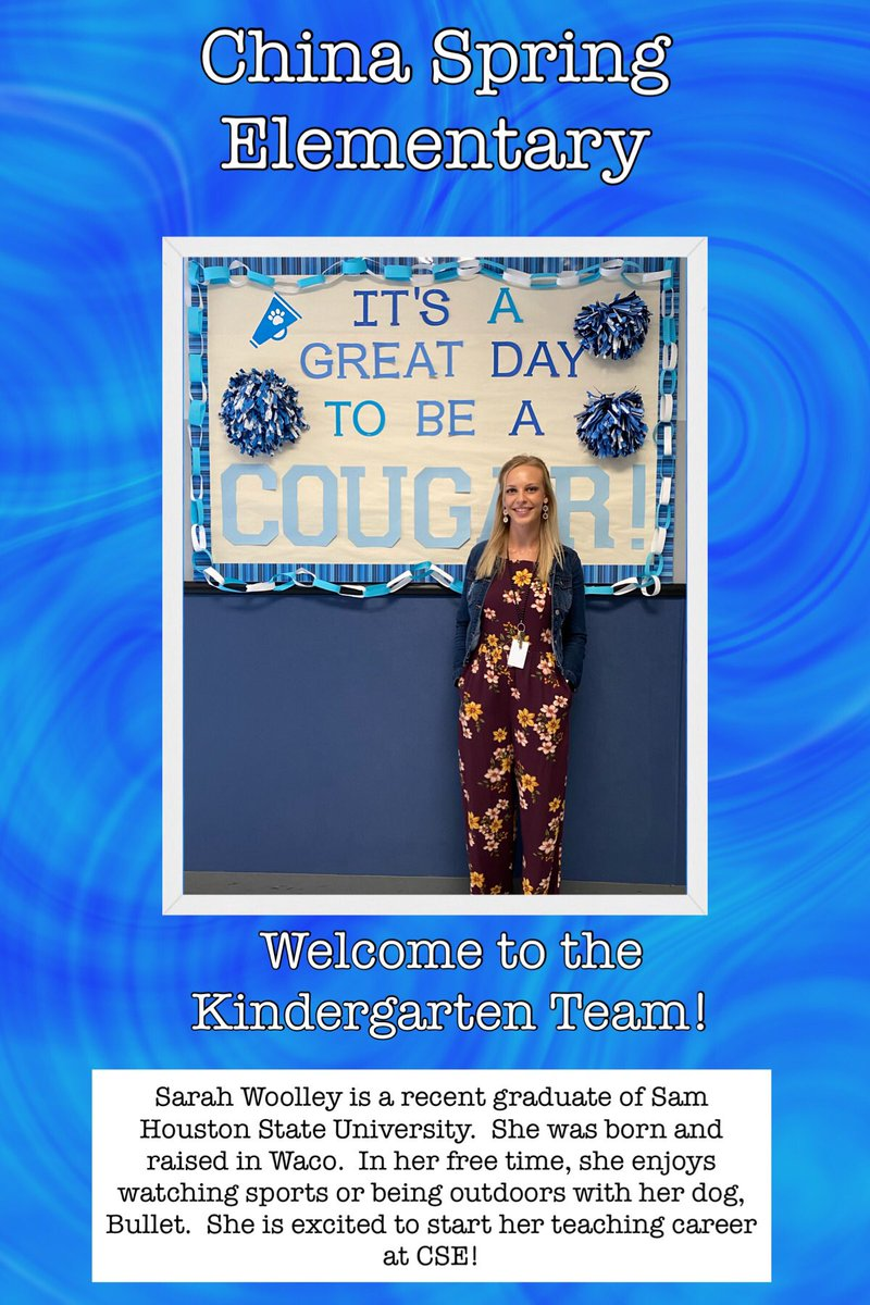 Welcome to our kindergarten team! 💙#ourWHY