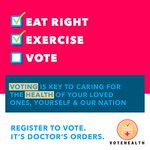 Image for the Tweet beginning: I've pledged to VoteHealth in