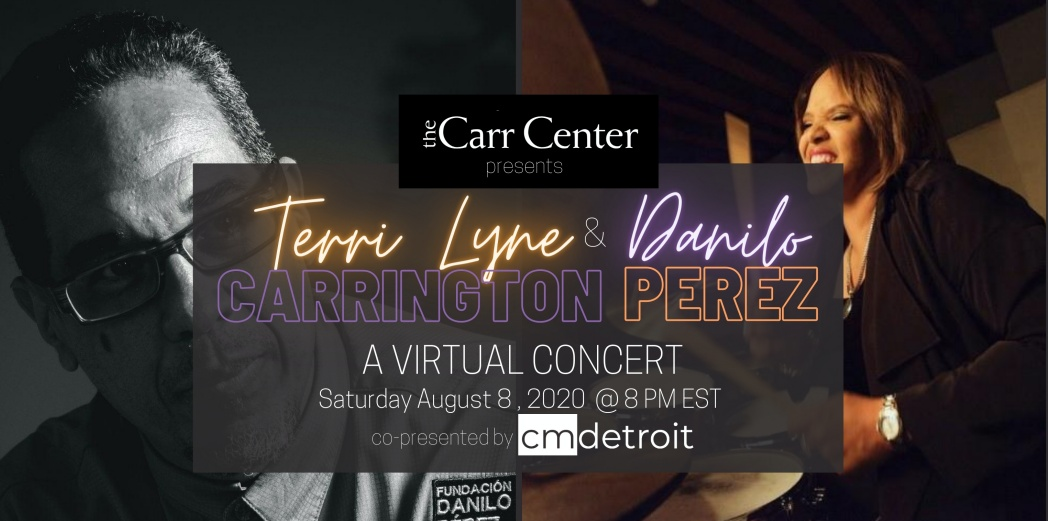 8/8 at 8PM Tonight! Streaming #live on my FB http://facebook.com/TerriLyneCarrington… @DaniloPerezJAZZ joins me in a duo concert presented by @TheCarrCenter We'll be doing music dedicated to #tonimorrison #angeladavis #charlieparker and more! Please join us! pic.twitter.com/mllUPO0kal