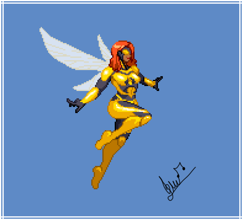 new sprite finished for @whoissizzle   This time it's Bumblebee from DC comics  #DCFanDome #dccomics #DC #pixelart #SpriteArt #pixelartist #art #ArtistOnTwitter #gamedev #indiepic.twitter.com/3kkAFV0y7M
