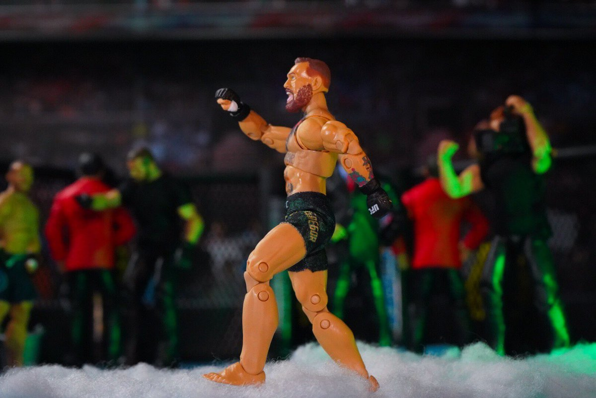 No chance! 🇮🇪 #ufc #mma #swagger #mixedmartialarts #fight #ConorMcGregor #ringsidecollectibles #scratchthatfigureitch #figlife #submission #actionfigures #jazwares https://t.co/gZ1Aamr5wr