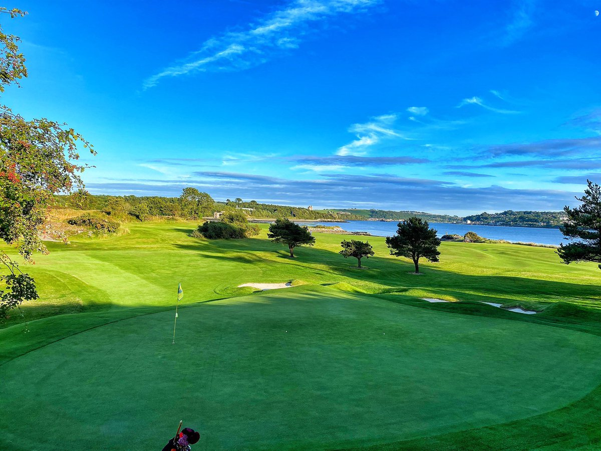 Looking over the 7th green and onwards to the 5th and Cork harbour. https://t.co/k0Z77sMDkw