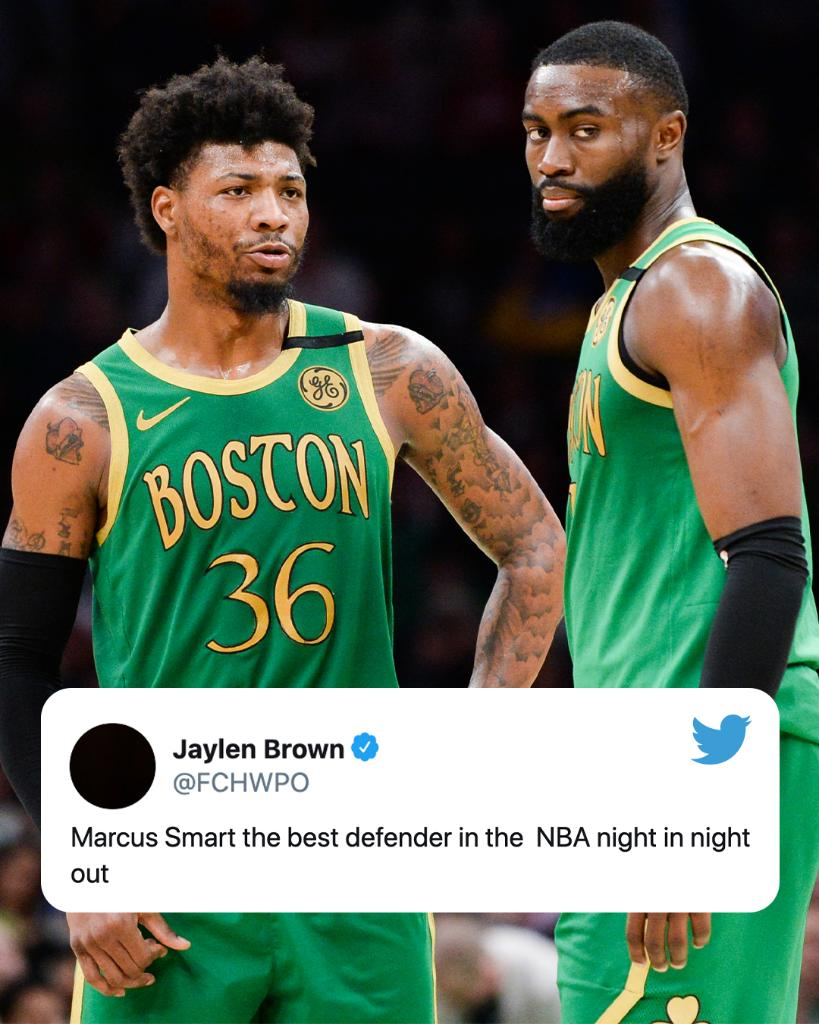 .@FCHWPO reacts to Marcus Smart being left off the DPOY finalist list 👀 https://t.co/OqJBLjiFwu
