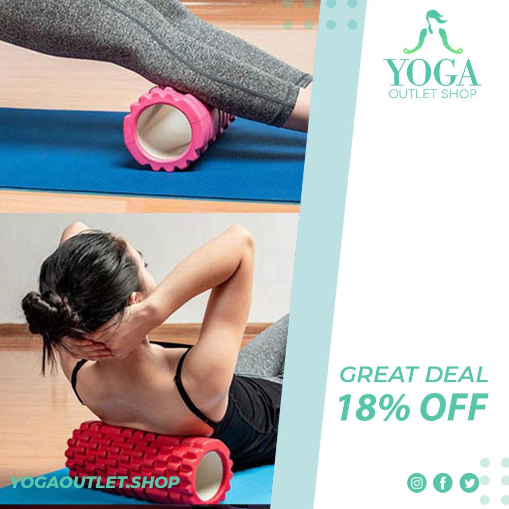 Yoga Massage Roller - Balance and core function training. . http://www.yogaoutlet.shop  . . . #massageroller #yogaroller #Relievespain #physiotherapymassage #balance #corefunctionalwellness #evafoam #yogaposes #backstretchespic.twitter.com/WlWTVxFEPE