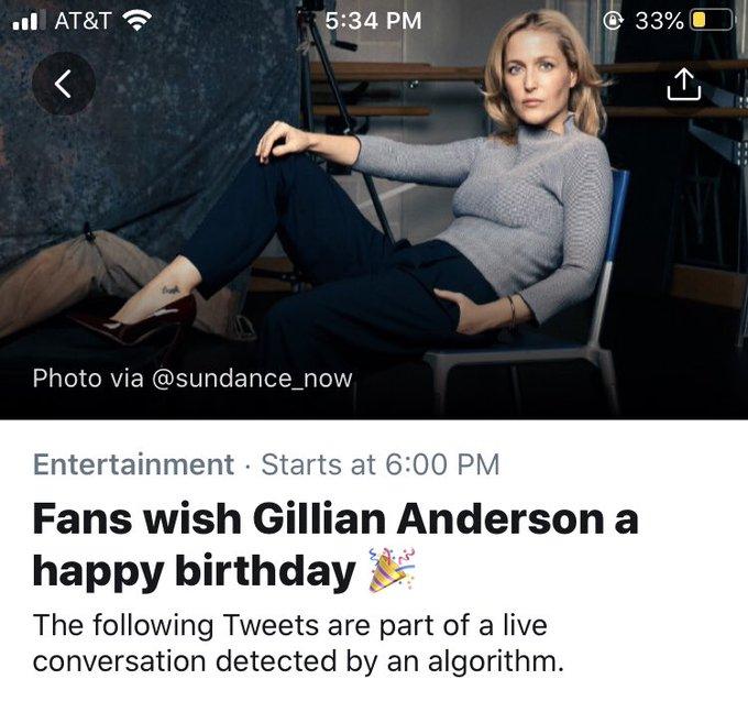 Fans wish *DePaul Legend* Gillian Anderson a happy birthday