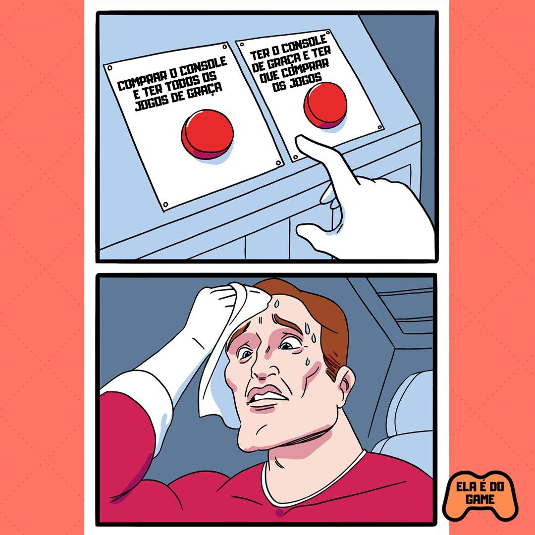DÚVIDA CRUEL! E aí? O que você escolheria? #memes #gamesmemes #videogamememes #games #gamerpic.twitter.com/ivIvzmgJXX