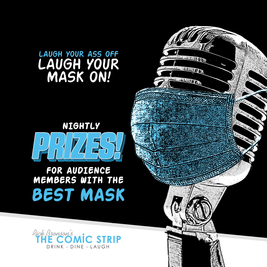 #YEG #AB - If we gotta wear them..... let's at least have some fun with it! Nightly Prizes for our Guests with the Best Mask / Best Mask - Outfit Combo at @ComicStripWEM - We're stuck with it - so let's make the best of it! & : https://ecs.page.link/ZAZtx  #SociallySafeComedy pic.twitter.com/bFGJz0ND9Y