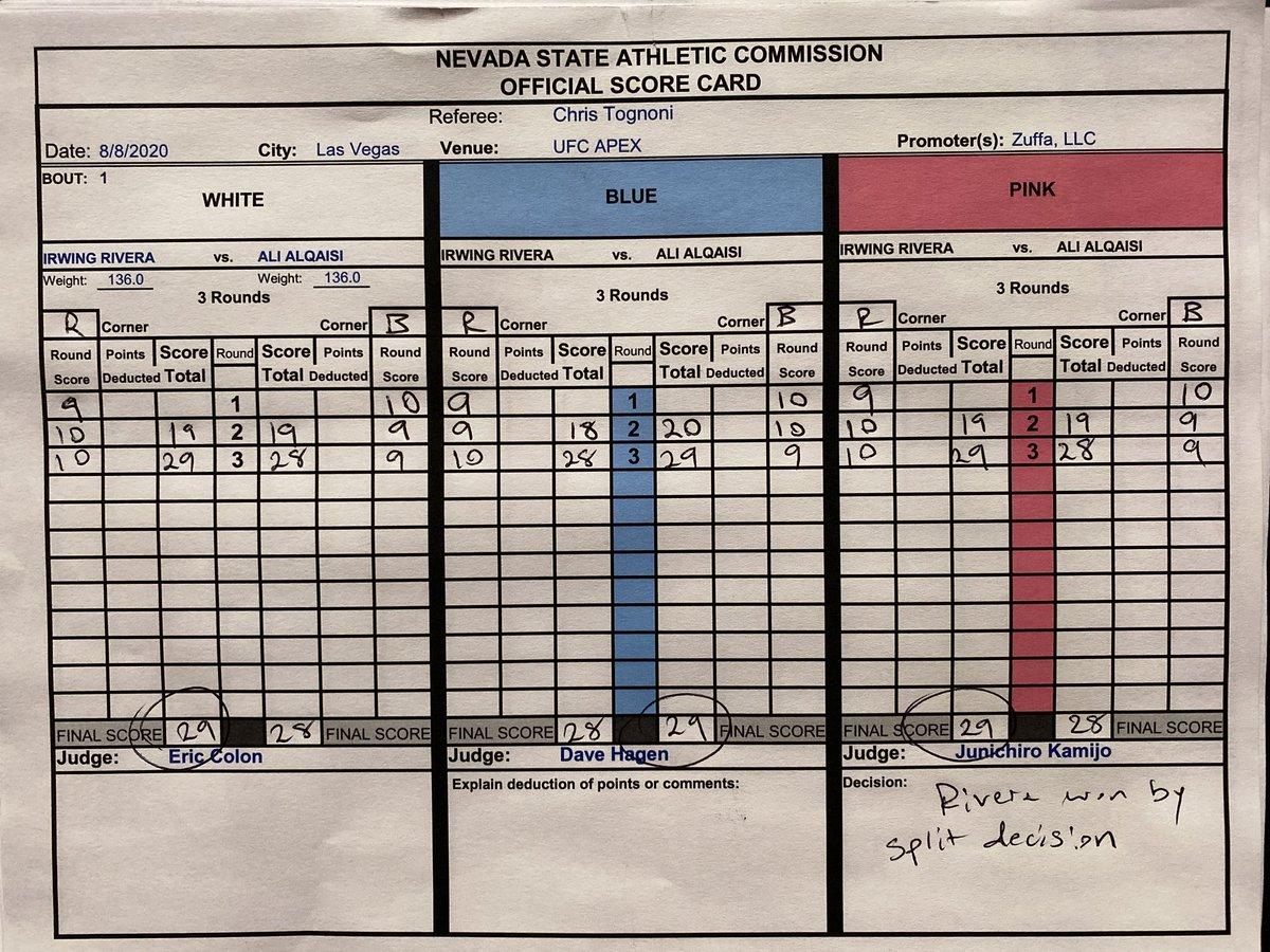 Esta es la tarjeta de la pelea de @Beast144_1 donde se llevó su primera victoria dentro de @UFCEspanol  #mma #ufc #ufconespn #ufcfightnight #UFCVegas6 https://t.co/CM6UTEPjm9