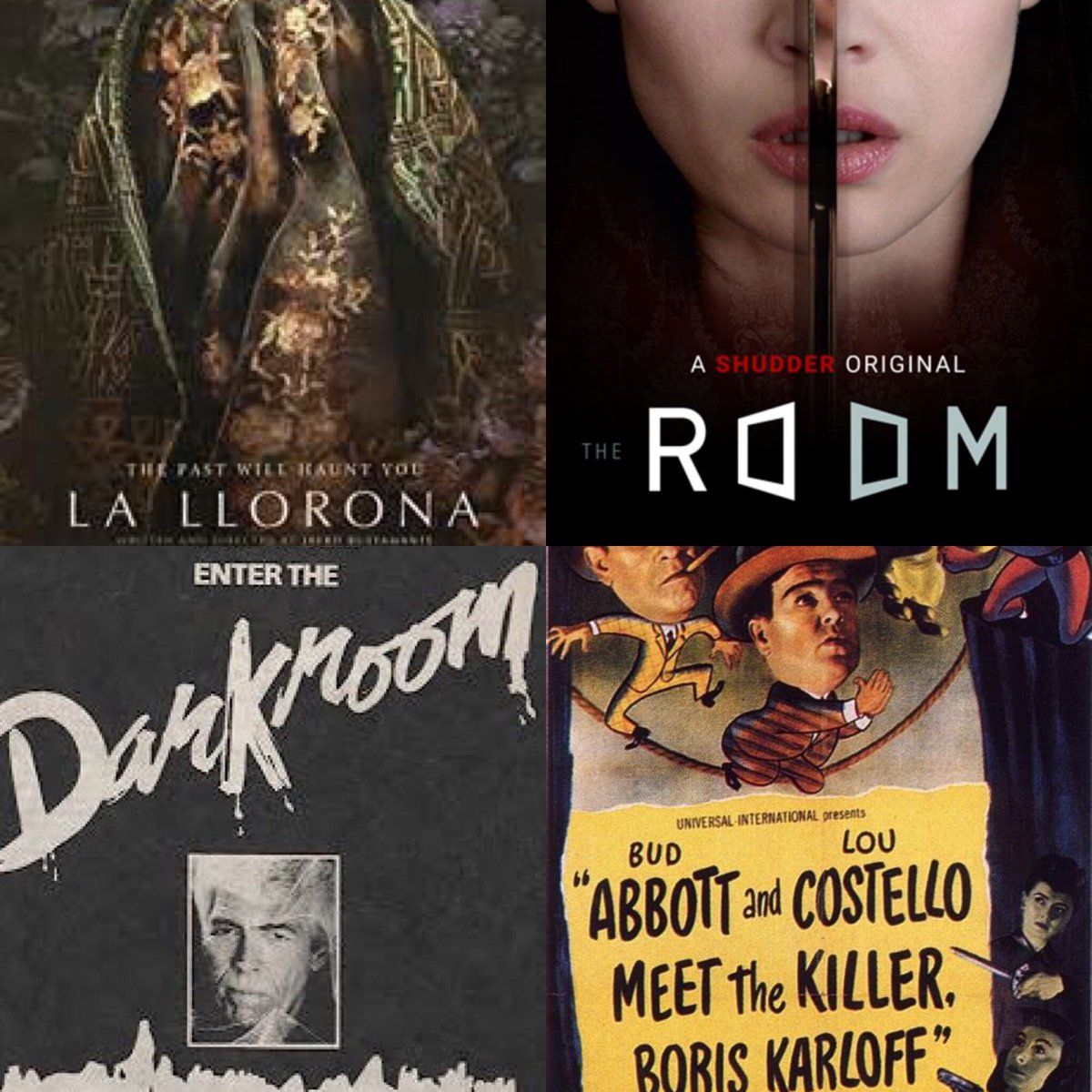 Weekend #quarantine watch list wrap up- the @shudder flick #lallorona is perfect 4 fans of @A24 style horror. 4 me it was 97mins of people staring. #theroom was like a muddled yet decent ep of #thetwilightzone Next up is #Darkroom an awesome old TV show. Then #abbottandcostellopic.twitter.com/PpOlZ1HivA