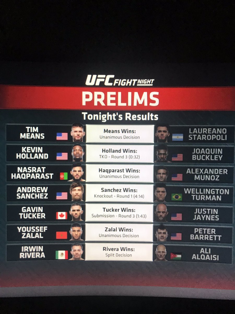 Good to be on the red corner in the prelims of #ufcvegas5 tonight :)  Join us next week as the senators score #ufc252!!!! https://t.co/S6LQv6hCY9
