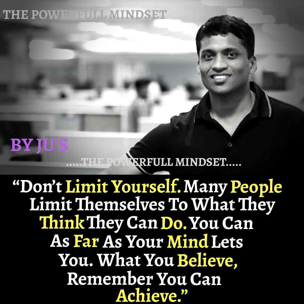 #entrepreneurshipeducation #mindsetmatters #achivement #focusonyourgoals #Trending  @ByjuRaveendranpic.twitter.com/yVfleGtPOa