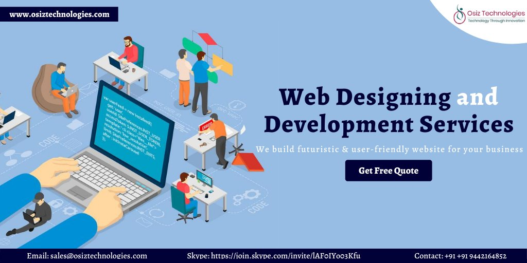 We don't just design a #Website, we convert it into a powerful communication medium that helps to get #Online #sales.   At #Osiz offers the eminent #webdevelopment services that aid to add value for your #business.  > https://buff.ly/2KJl8Zr  #webdesign #webdev #web #India #Italypic.twitter.com/mDcWQAgG2E