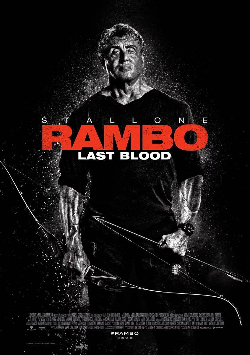 """275) Rambo : Last Blood Empecé a verla con las expectativas bien bajas y está bastante bien. Otra vez me pareció que tiene un problema """"político"""", ponele, pero es muchísimo mejor de lo que había leído y me llegó a sorprender por como se diferencia en un punto de """"Taken"""". pic.twitter.com/zmAEQiTrIp"""