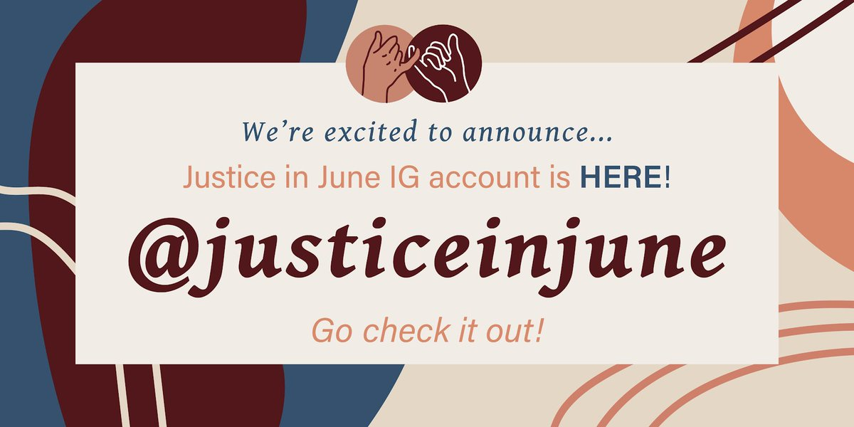 For those that follow us across platforms... Check out our new IG dedicated to taking this moment to a movement! @justiceinjune https://t.co/0KBUr35cOP