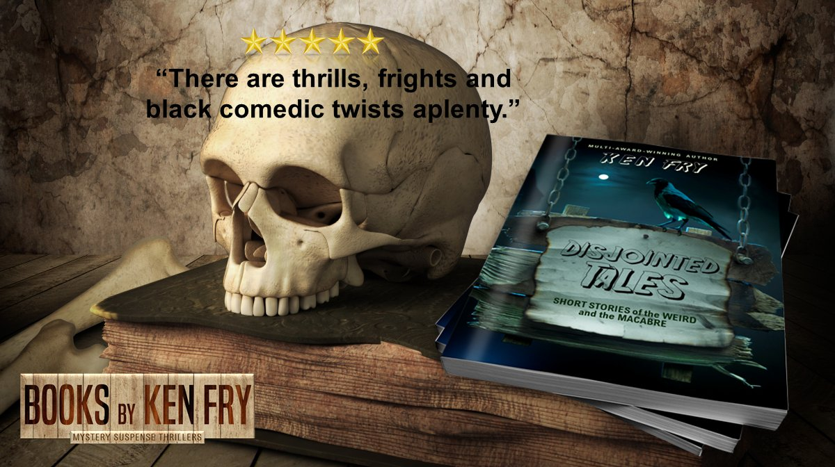 What's your thrill? http://getbook.at/disjointedtales   From my cupboard to your eReader... A small but unhinging collection of weird tales that will entertain you on dark nights, by the fireside or in bed.  #IARTG #Thriller #PARANORMAL #Suspense #shortstories #BookBoostpic.twitter.com/X4YvTRFCwc
