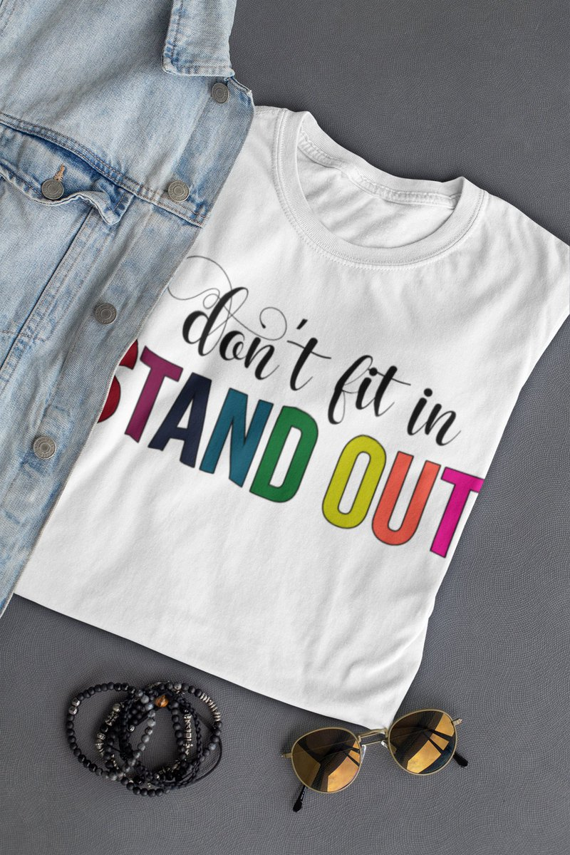 Life is a journey with all the colors of the rainbow in it!  Stand out!  Wear it long, wear it strong!  Find it here: https://soulful-sass.myshopify.com/products/stand-out-crew-cotton-tee?variant=35428150837404 … In white and athletic grey. Soft cotton crew.  #womensfashion  #tshirtdesign #tshirtshop #inclusive #empowerpic.twitter.com/8Eyg11vu6x