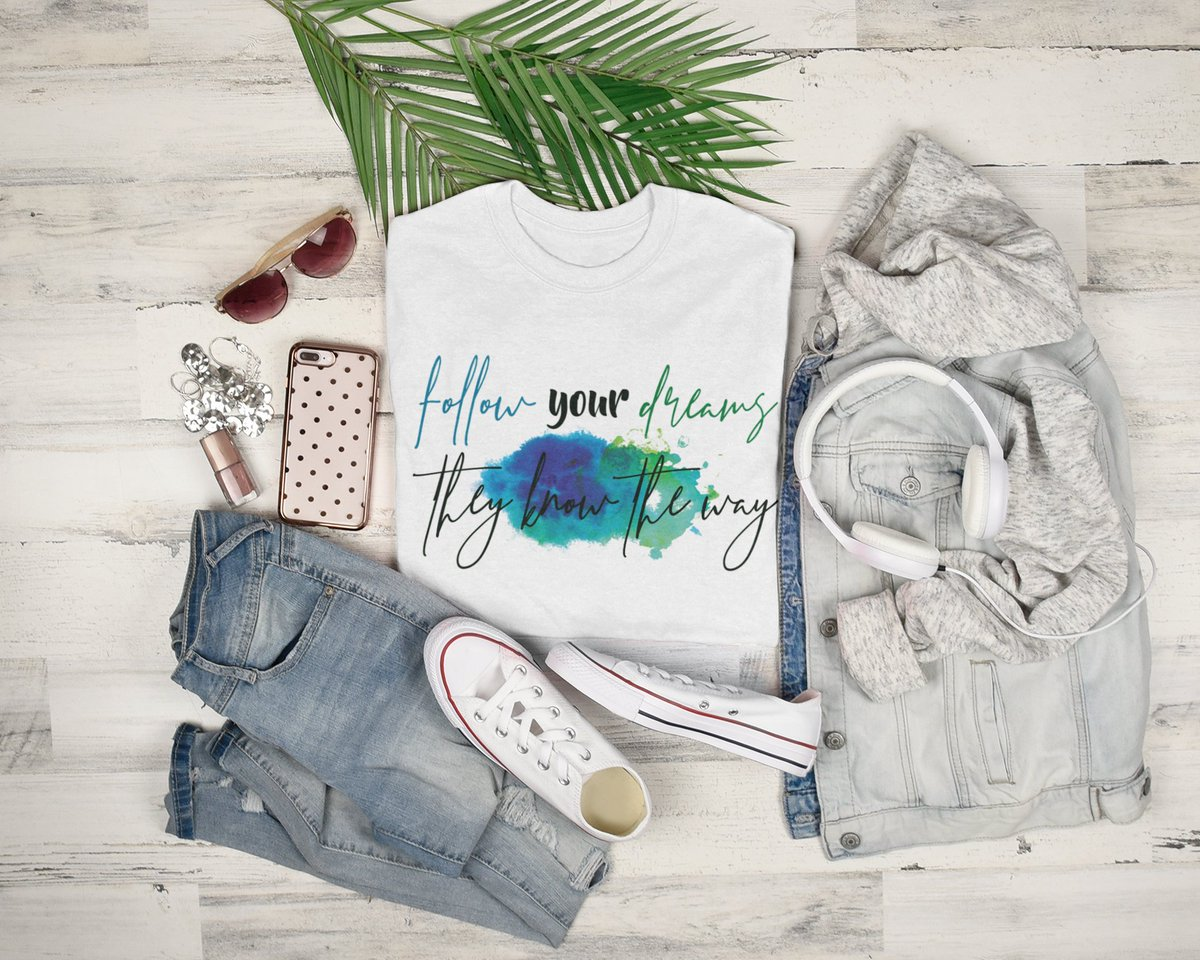 Follow Your Dreams!  Soft Cotton Tee in gorgeous ocean colors.  Available in white and athletic heather grey.  Find it here: https://soulful-sass.myshopify.com/products/follow-dreams-womens-cotton-tee …  Covid safe, ethical practice company.  #womensfashion #tshirtdesign #tshirtshop #DREAMS #empoweringwomenpic.twitter.com/cXvbXGcXym