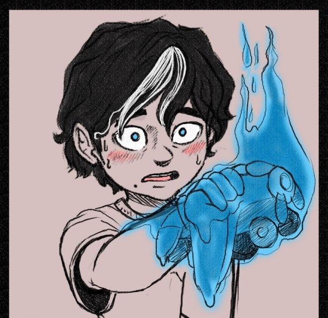 His quirk is combustion, where when he puts all five fingers on any object, it will ignite into blue flames. He can't throw or shoot fire, nor can he use any sort of decay like quirk, but his blue fire burns too hot, like Dabi, so learning to control it left him with some scars pic.twitter.com/JV6aSFSSEj