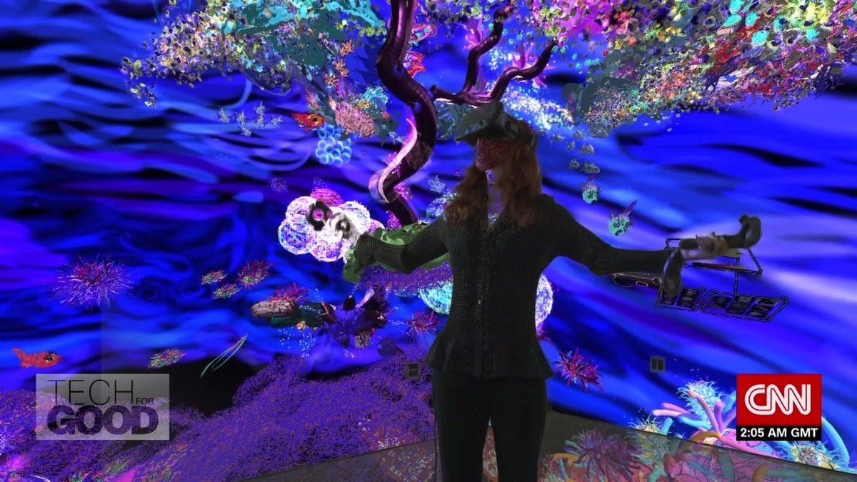"Without this technology, my art would be very limited."" For socio-ecological artist Colleen Flanigan, the virtual space is her canvas. She uses #TiltBrush to fuse art with activism. #TechForGood @misssnailpail @tiltbrush @TEDFellow"