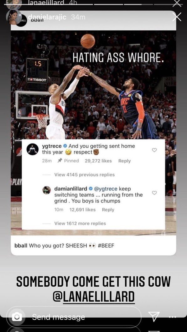 Hoop Central On Twitter So Now We Got Paul George S Wife And Damian Lillard S Sister Beefing This Has Gone Too Far