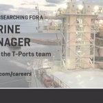 Image for the Tweet beginning: T-Ports is hiring! The Marine