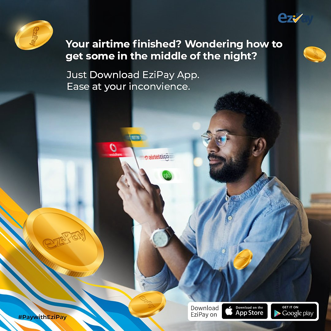 EziPay, best money transfer software❗  Use EziPay to Buy Data, Airtime, Send and Receive money and many more with EziPay 💯  Install EziPay here:   https://t.co/X2Nfulyu9Y  #ezipay  #mobilewallet  #moneytransfert  #instantmoneytransfer  #paywithezipay https://t.co/AR2yAe0ipF