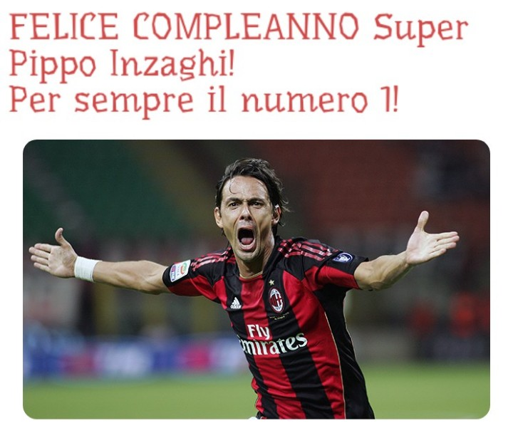 #inzaghi #superpippo #pippogol #pippogoal #superpippoinzaghi  Buon compleanno Super !!!   @acmilan https://t.co/JaLzvBIHcW