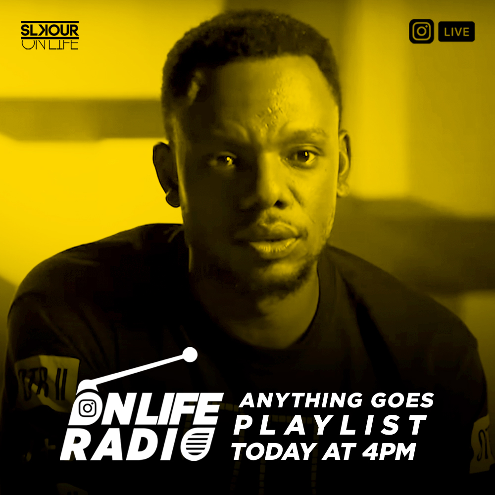 For some fresh new music from both upcoming and mainstream artists, tune in to OnLife Radio 'Anything Goes Playlist' hosted by Slikour today at 4PM on our IG Live... Let's gooo!!! 📻🎵 https://t.co/G7UVbotsyx