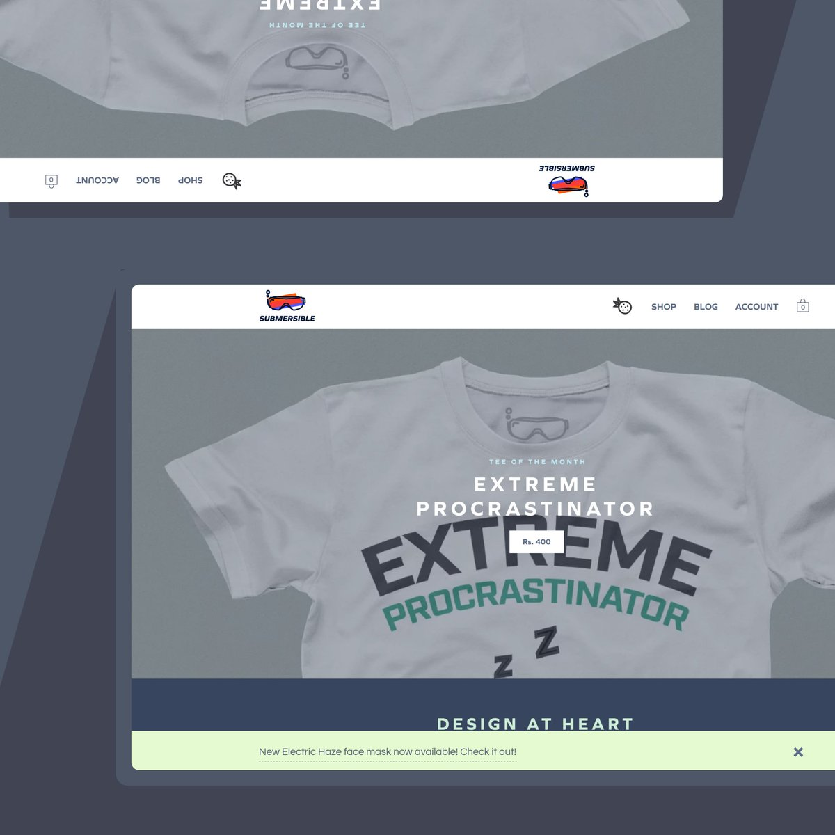 New tee of the month is up on the website! Get an amazing deal on a special August entry - The Extreme Procrastinator! - #submersible #human #rockandroll #popartist #designprocess #designproject #photography #hinditypography #tshirtonline #tshirtslovers #tshirtcollectionpic.twitter.com/wXgLcYTZlp