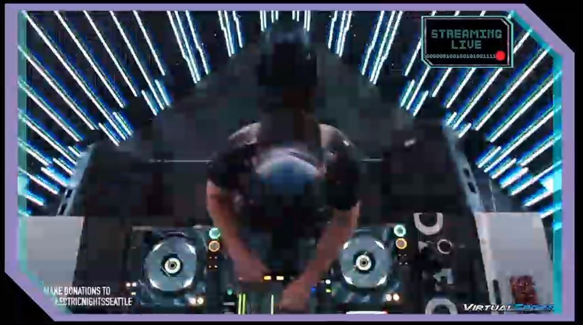 Lat caller of the evening is Subxian  is Live from Seattle Wa. he has a question about some incredible visuals that can melt your brain !  http://twitch.tv/defcon_music   Our chat is in #-music-chat on the #DEFCON Discord server http://discord.gg/defcon   @defcon  #dc28 #DEFCONSafeModepic.twitter.com/JlZaMdhOZU