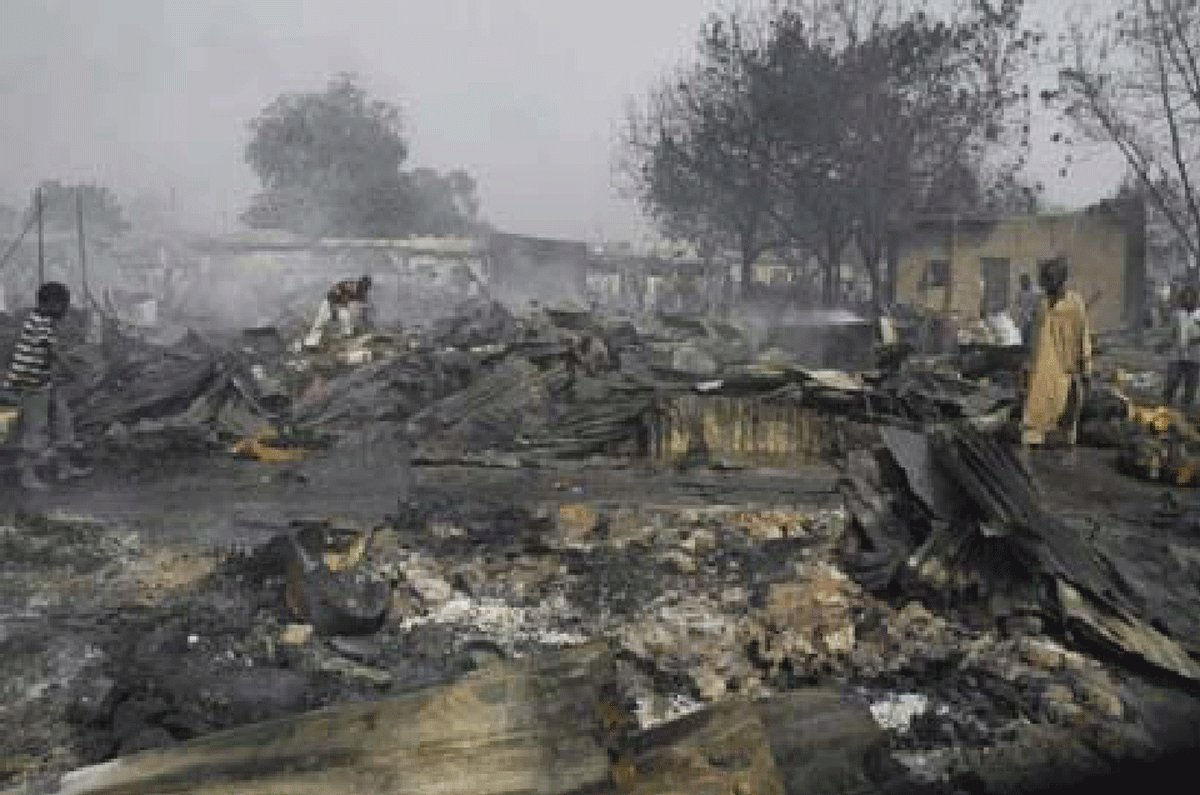 This is the present situation of  the indigenous people of Southern kaduna in the North Central of the zoo called #Nigeria, people killed,  body parts taken,  and their home razed stop been silent @UN @StateDept @realDonaldTrump @FoxNews @SecPompeo @TheJusticeDept @julie4northpic.twitter.com/xCLhO2KCsC