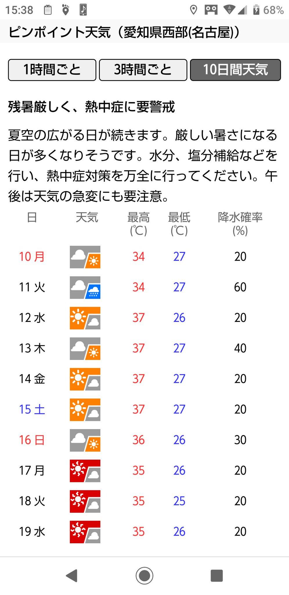 名古屋 天気 ピン ポイント