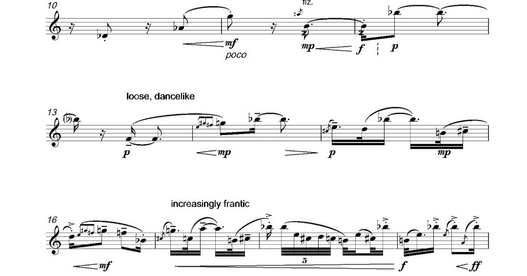 Score of the Day: A distinctive piece for solo #bass #flute http://bit.ly/2RzcHVg  #SOTDpic.twitter.com/7JntZWRDmP