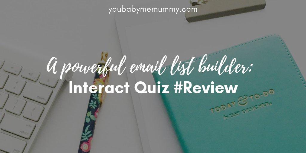A powerful email list builder: Interact Quiz #Review https://youbabymemummy.com/blogging/a-powerful-email-list-builder-interact-quiz-review/… #pbloggerpic.twitter.com/gx1L2DlJtl