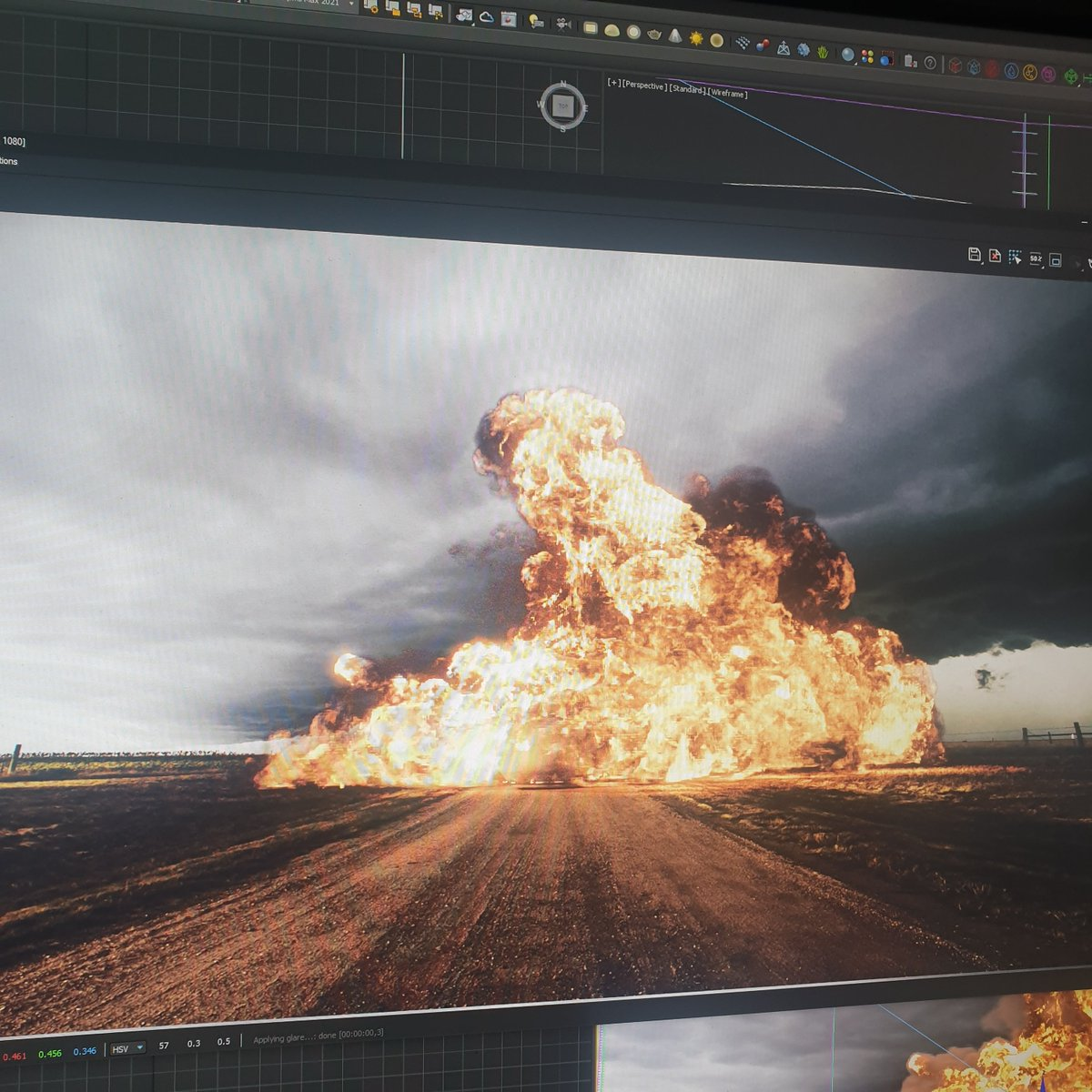 Working on the next tutorial! #tyflow #3dsmax #vray #phoenixfd #3d #3drender #chaosgroup #particles #animationpic.twitter.com/IMQkySvG12