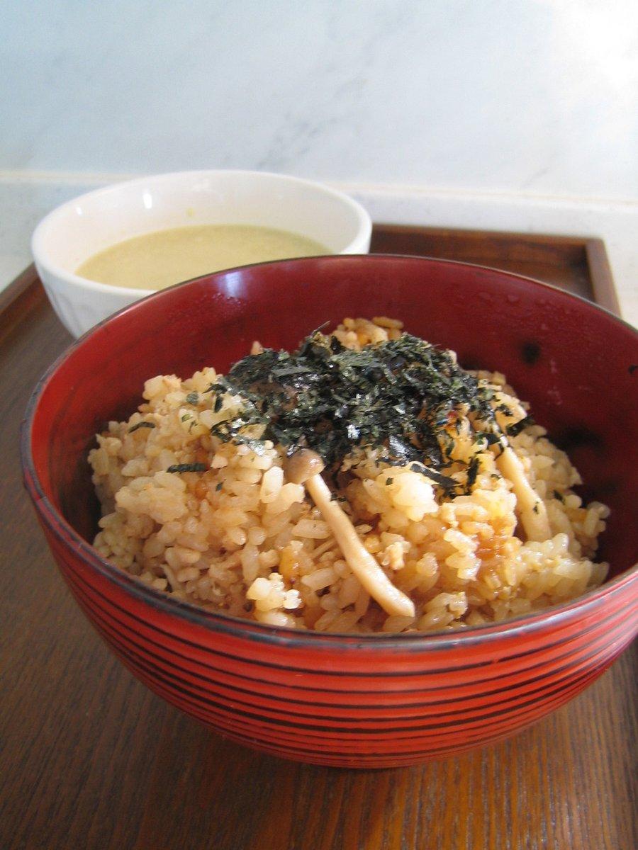 鶏そぼろと生姜の炊き込みごはん