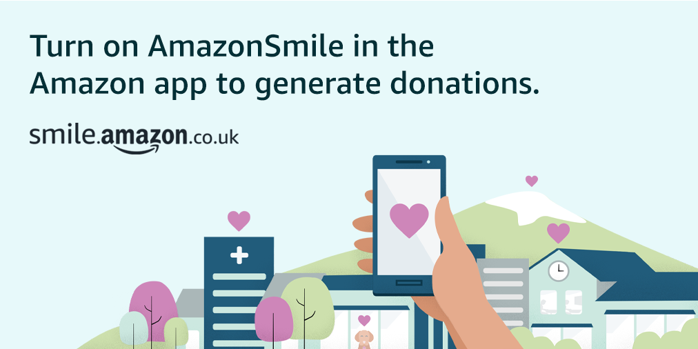 Good news! @amazonsmile is now available in the @AmazonUK Shopping app! 😃  Simply follow these instructions to turn on AmazonSmile and start generating donations. 👉 https://t.co/pj52kqGjzn https://t.co/c0uchsu17z