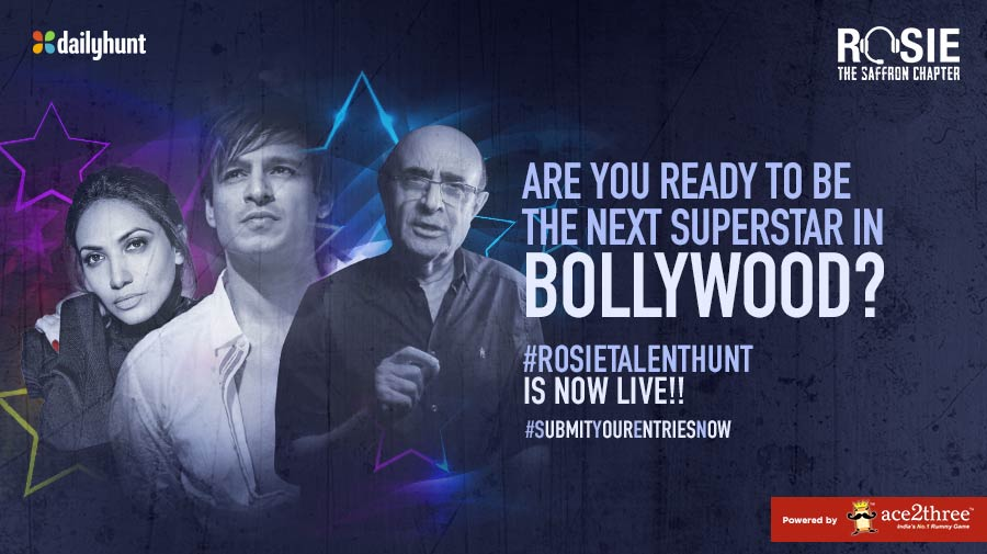 The #RosieTalentHunt is now LIVE! Agar talent hai, toh boss bhejo entry! #PrernaVArora @Ace2Three Link to register : talenthunt.dhunt.in/akoJr