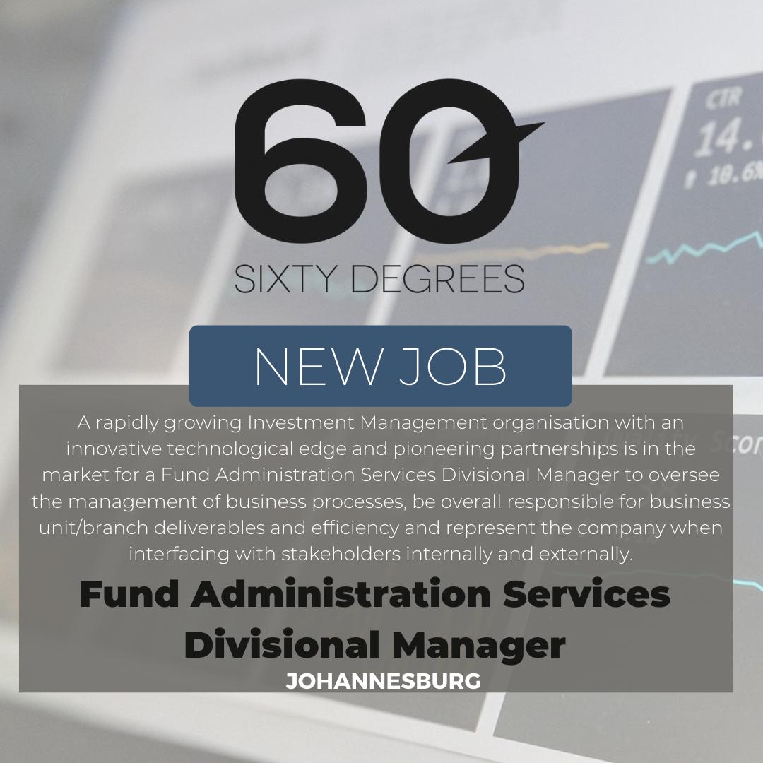 test Twitter Media - New #JobAlert - Fund Administration Services Divisional Manager in JHB  https://t.co/VZhyZMpVFq  #rolesinJHB #finance #60Degrees #60DRecruiter #60Droles https://t.co/fJpaUhv2Nq