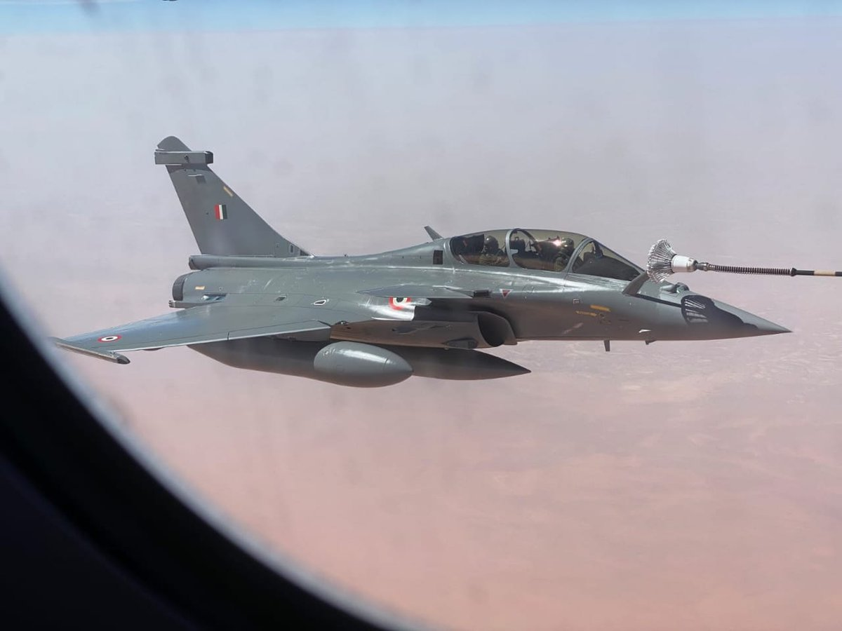 Indian Air Force appreciates the support provided by French Air Force for our Rafale journey back home. @Armee_de_lair @Indian_Embassy @Dassault_OnAir #Rafale #IndianAirForce
