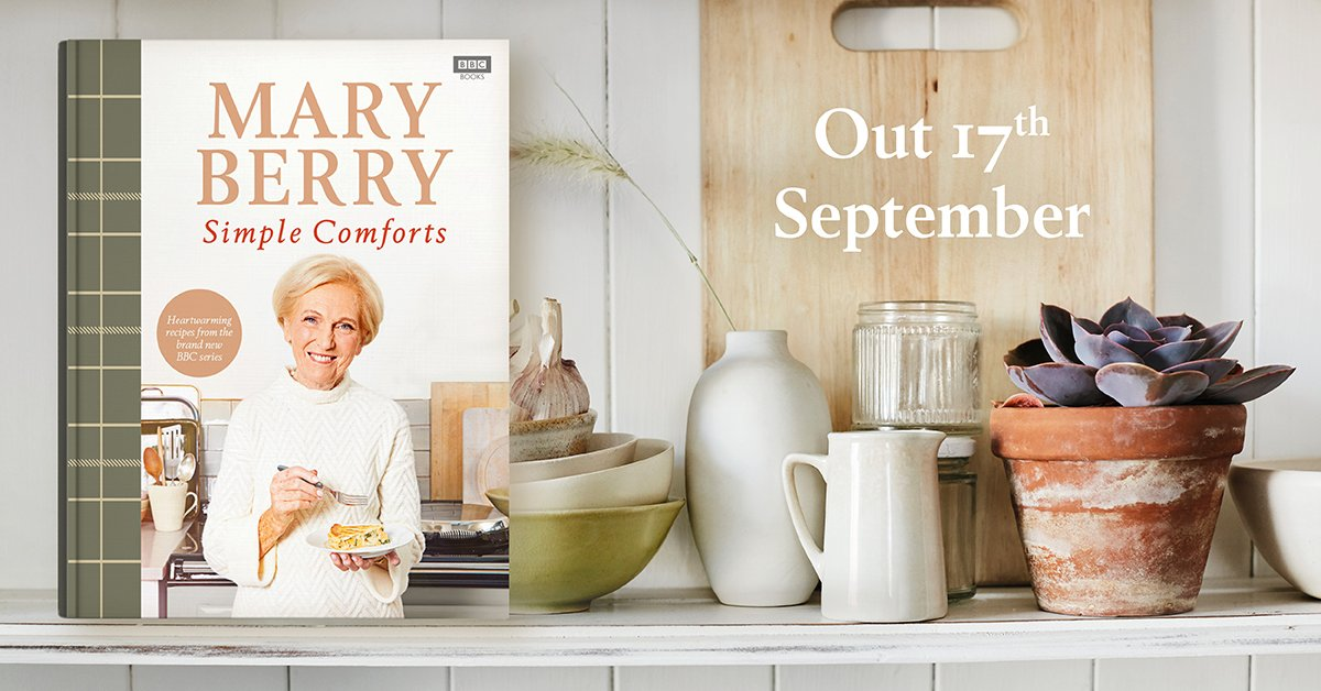 Exciting news in the food world today folks: Mary Berry's brand new book, Simple Comforts, will be released on 17 September 2020 and will be accompanied by a six-part TV series on BBC2. Click here for 5 things we can reveal about the book so far: https://t.co/1eVJvTxKbq https://t.co/c14Fcq0JzJ