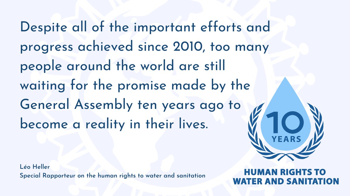 """The commitments of the 2030 Agenda are a driver to """"leave no one behind"""" but it will not suffice if countries approach the targets and goals merely as a quantitative exercise, leaving the human rights to water and sanitation to the side See my statement: bit.ly/2EoYIwv"""