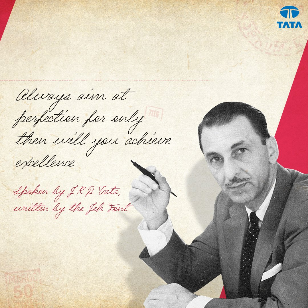 Being the visionary that Jeh was, he created an exceptional equivalent to the Indian Administrative Services in the private sector. He also created the Tata Administrative Services as well as expanded the group's portfolio to include Voltas in 1954. #JourneyOfJeh #ThisIsTata https://t.co/4mYyi99H6x