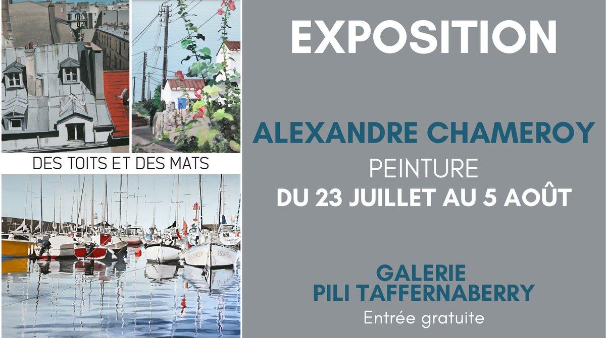 #Exposition de #peinture actuellement à la #Galerie Pili Taffernaberry d'@AlexandreChameroy à #Bidart.pic.twitter.com/u2KhOfVaa1