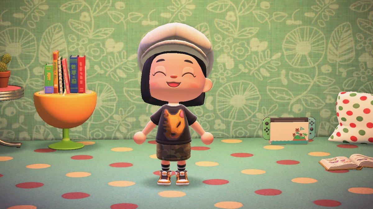 今度はつねきちの服を使ってみてますっ♪#マイデザイン#どうぶつの森 #AnimalCrossing #ACNH #NintendoSwitch