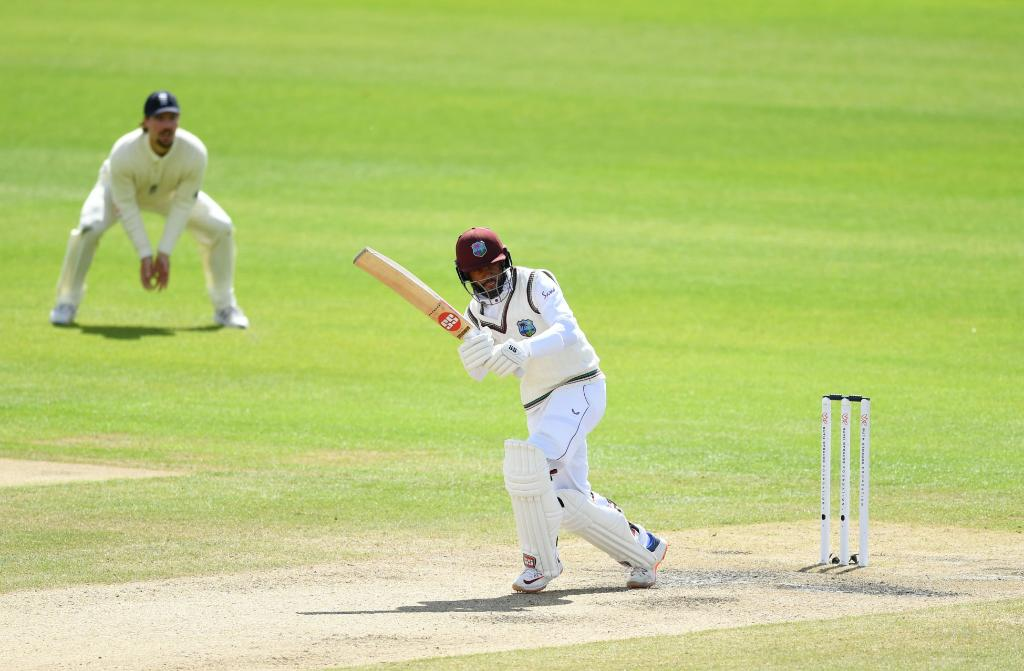 The West Indies top three - Braithwaite, Campbell and Hope -  - fared a lot poorer than the English top order.(Credits: Twitter/ICC)