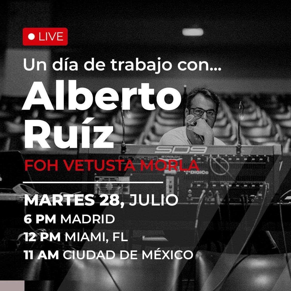🔴 No os perdáis esta oportunidad de conocer al gran Alberto, el jefazo del sonido en nuestros conciertos 🎶 Registro gratis ➡️ https://t.co/TeI6DgOmFV https://t.co/916aTddLGJ