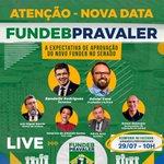 Image for the Tweet beginning: Amanhã, quarta-feira (29), às 10h,