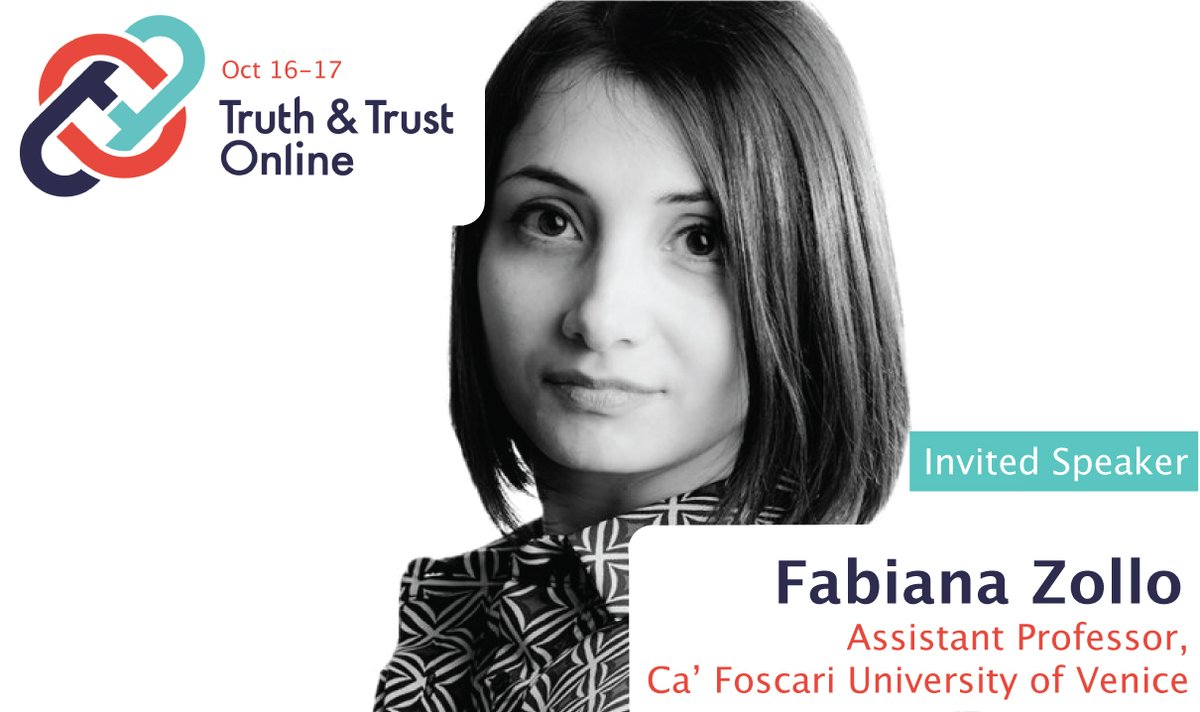 Truth And Trust On Twitter Introducing More Invited Speakers At Truth And Trust Online Conference Fabiana Zollo Zollofab Is An Assistant Professor At Ca Foscari University Of Venice Her Research Is On Is your black professor white? twitter